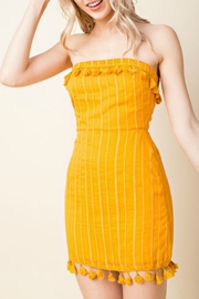 Wild Honey Tassel Trim Dress - Product Mini Image