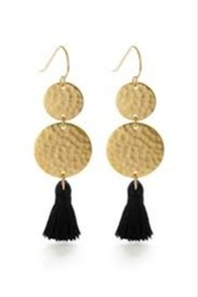 Amano Trading Tassel Two Disk Earrings - Product Mini Image