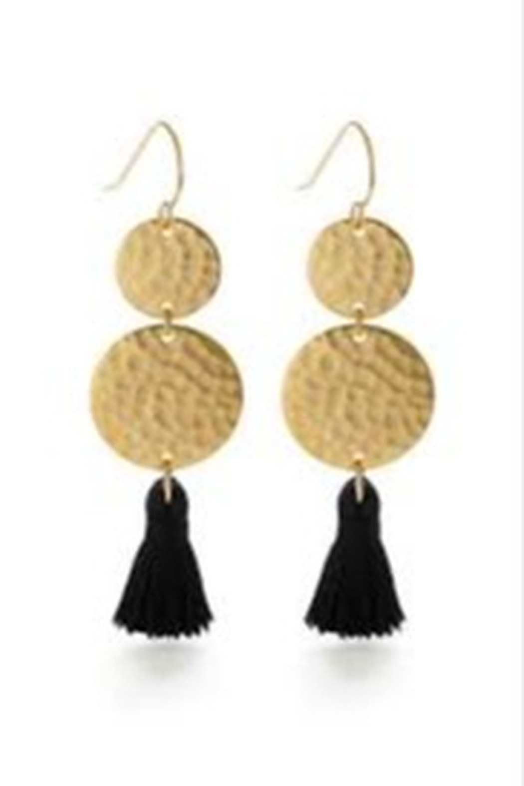 Amano Trading Tassel Two Disc Earring - Main Image