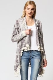 Fate TASSELED AZTEC CARDIGAN - Front cropped