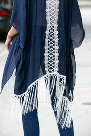 Riah Fashion Tasseled-Lace-Kimono-Or-Beach-Cover-Up - Other