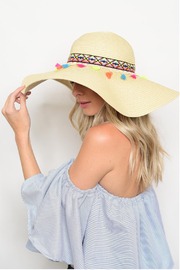 The G&G's Big Closet Tassels Aztec Sun Hat - Product Mini Image