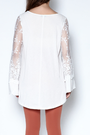 Tassels N Lace Lace Bell Sleeve Tee - Back cropped