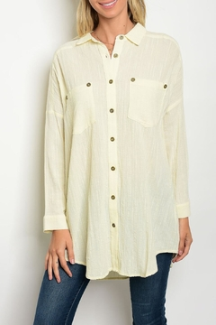 Tassels N Lace Cream Tunic Top - Product List Image