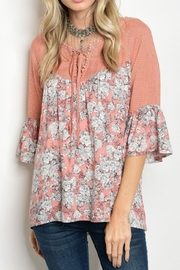 Tassels N Lace Floral Boho Top - Product Mini Image