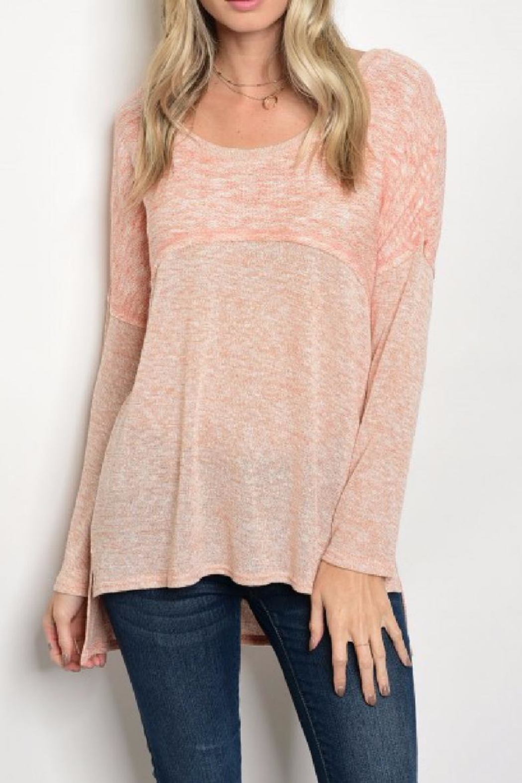 Tassels N Lace Light Sweater Top - Main Image