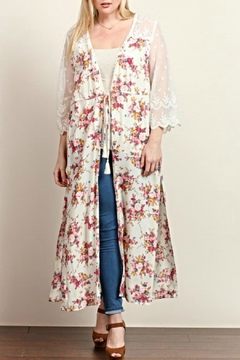 Tassels N Lace Long Floral Kimono - Product List Image