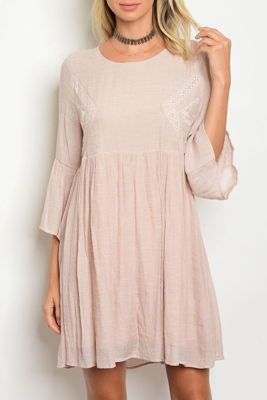 Tassels N Lace Mineral Wash Dress - Main Image