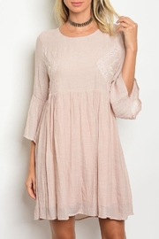Tassels N Lace Mineral Wash Dress - Front cropped