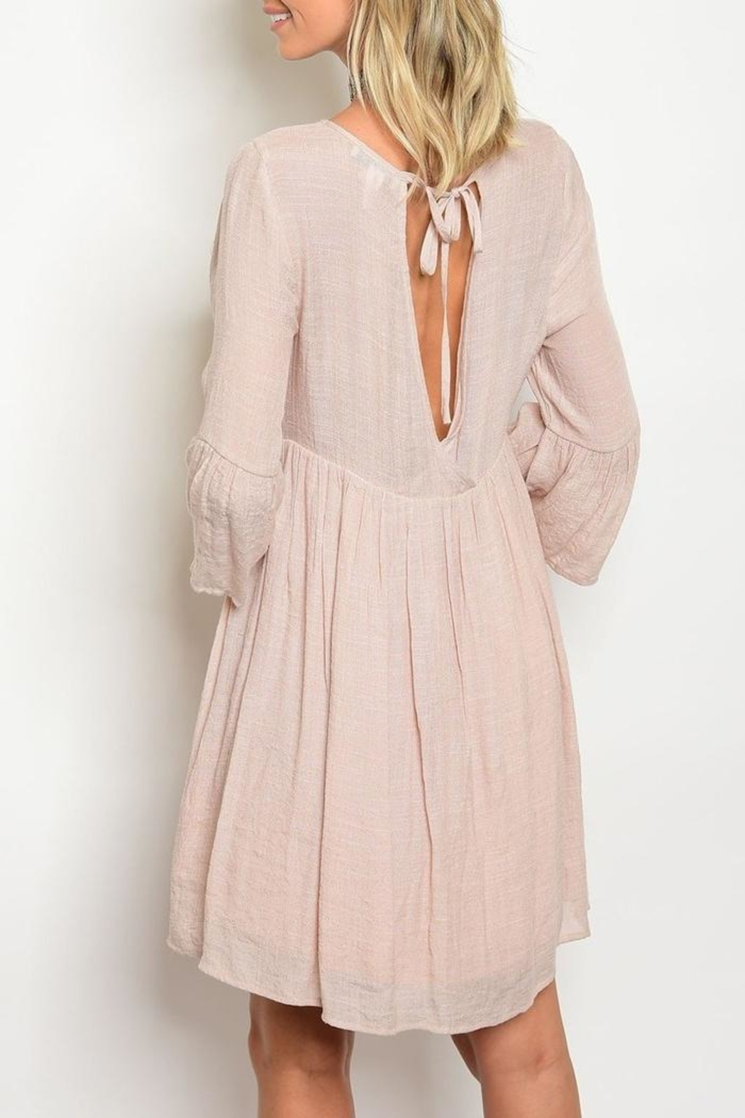 Tassels N Lace Mineral Wash Dress - Front Full Image