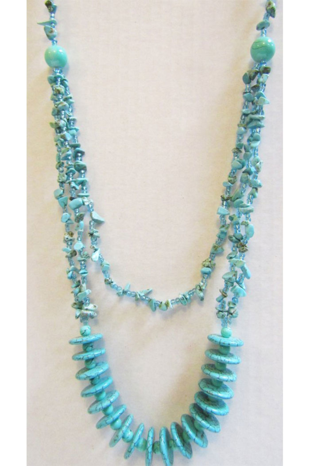 KIMBALS Tasteful Turquoise Pullover Necklace - Main Image