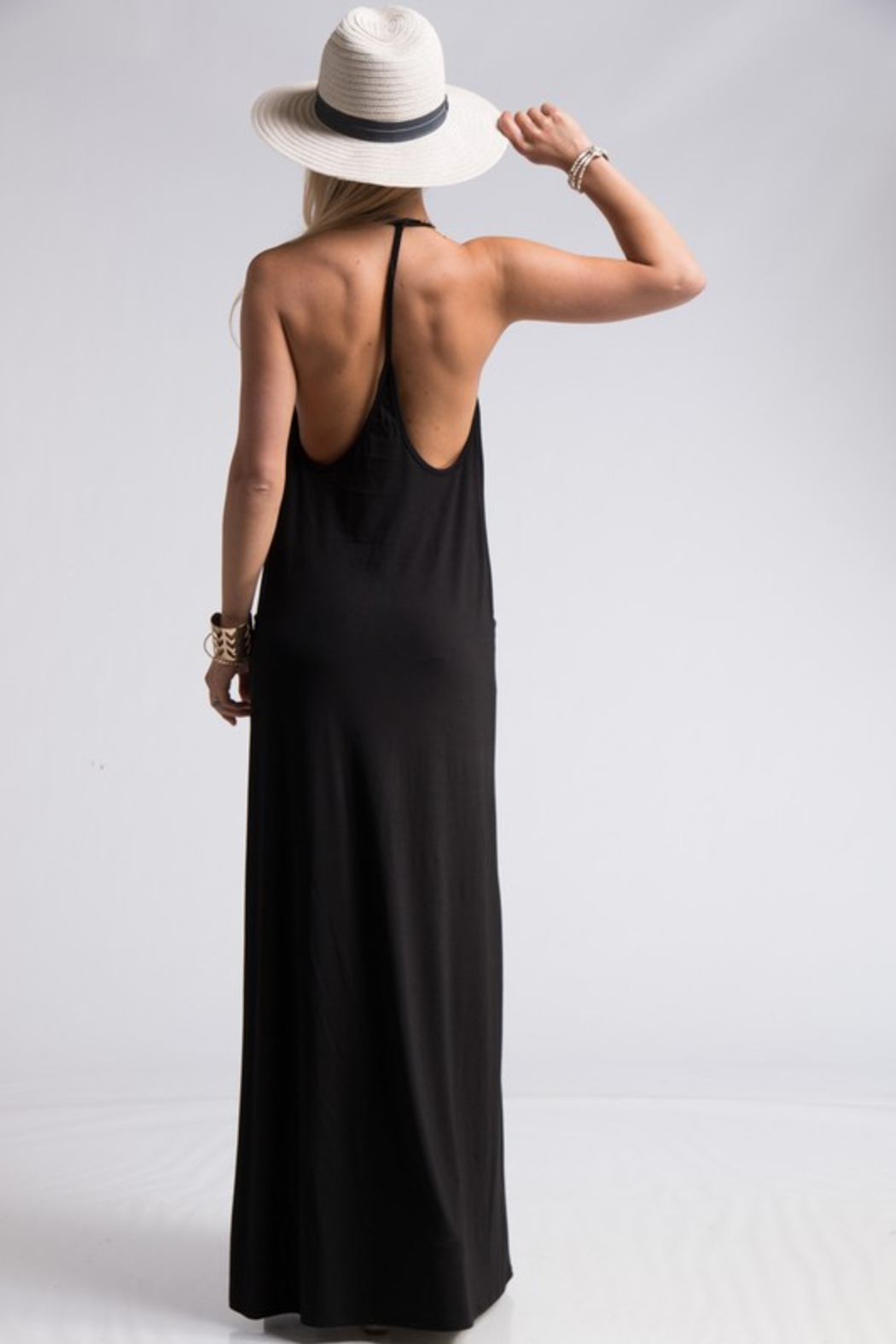 R+D  Gabby T Back Maxi - Side Cropped Image
