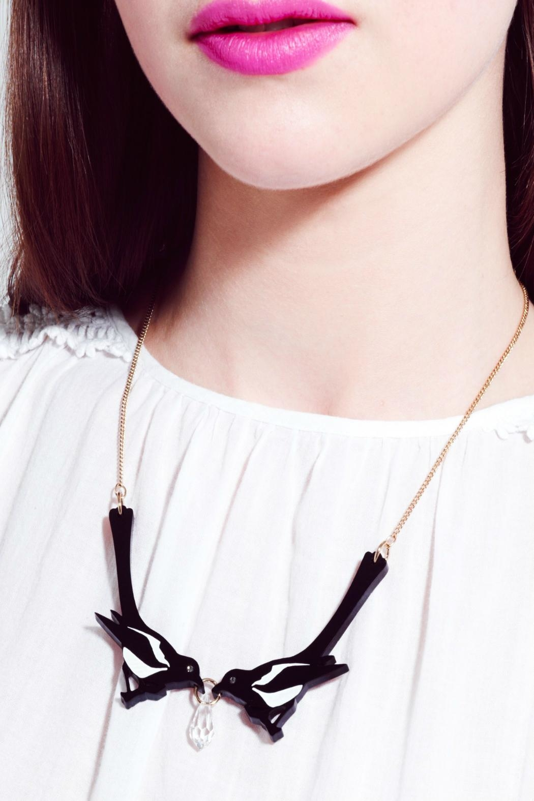 Tatty Devine Double Magpie Necklace - Back Cropped Image