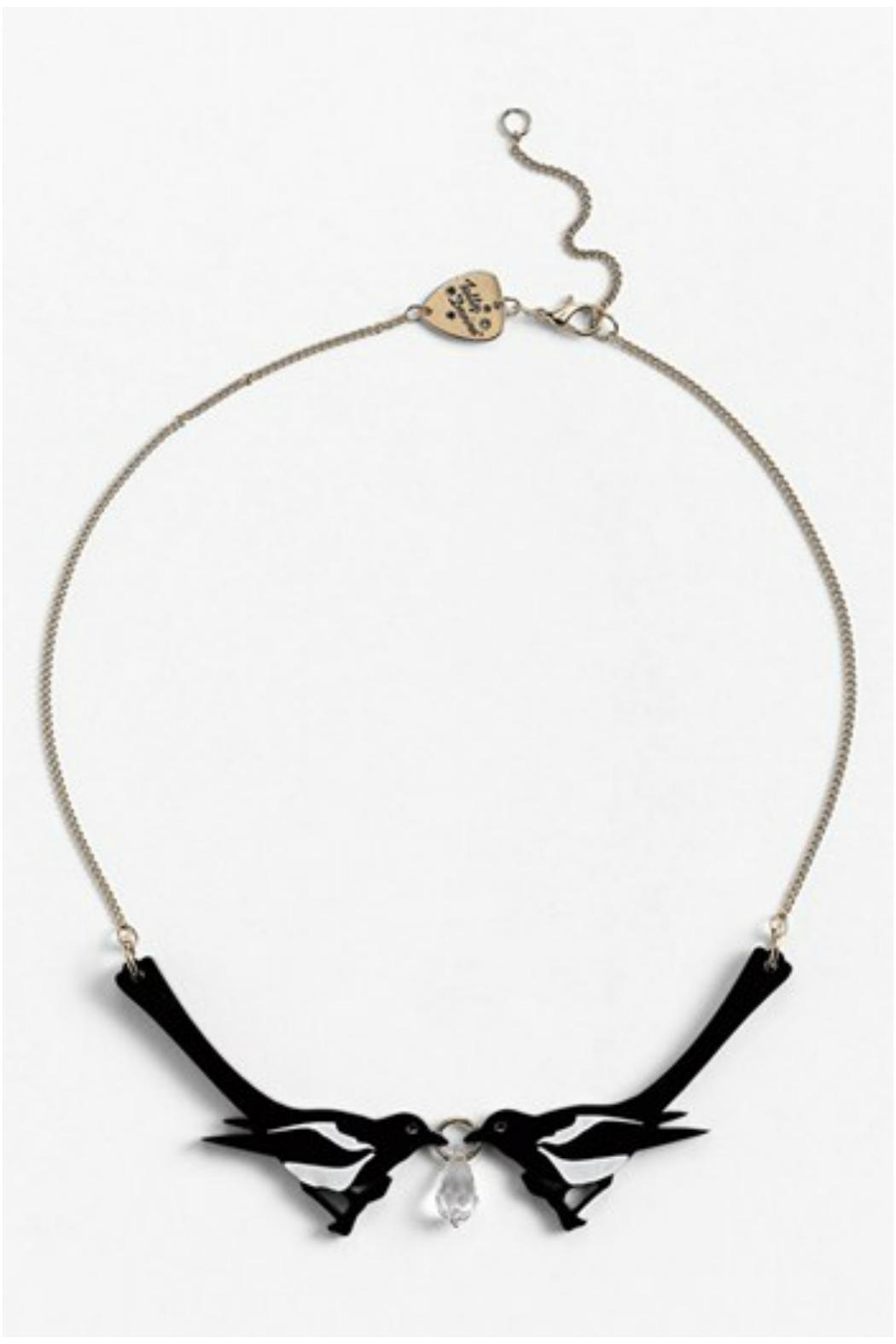 Tatty Devine Double Magpie Necklace - Front Full Image