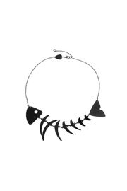 Tatty Devine Fishbone Black Necklace - Front cropped