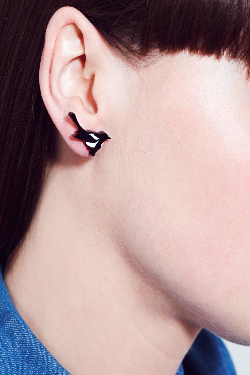 Tatty Devine Magpie Earrings - Front Full Image