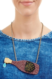 Tatty Devine Pink Champagne Necklace - Front full body