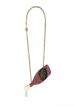 Tatty Devine Pink Champagne Necklace - Product List Image