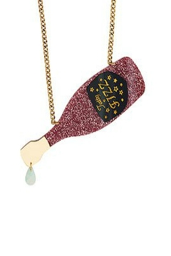 Tatty Devine Pink Champagne Necklace - Alternate List Image
