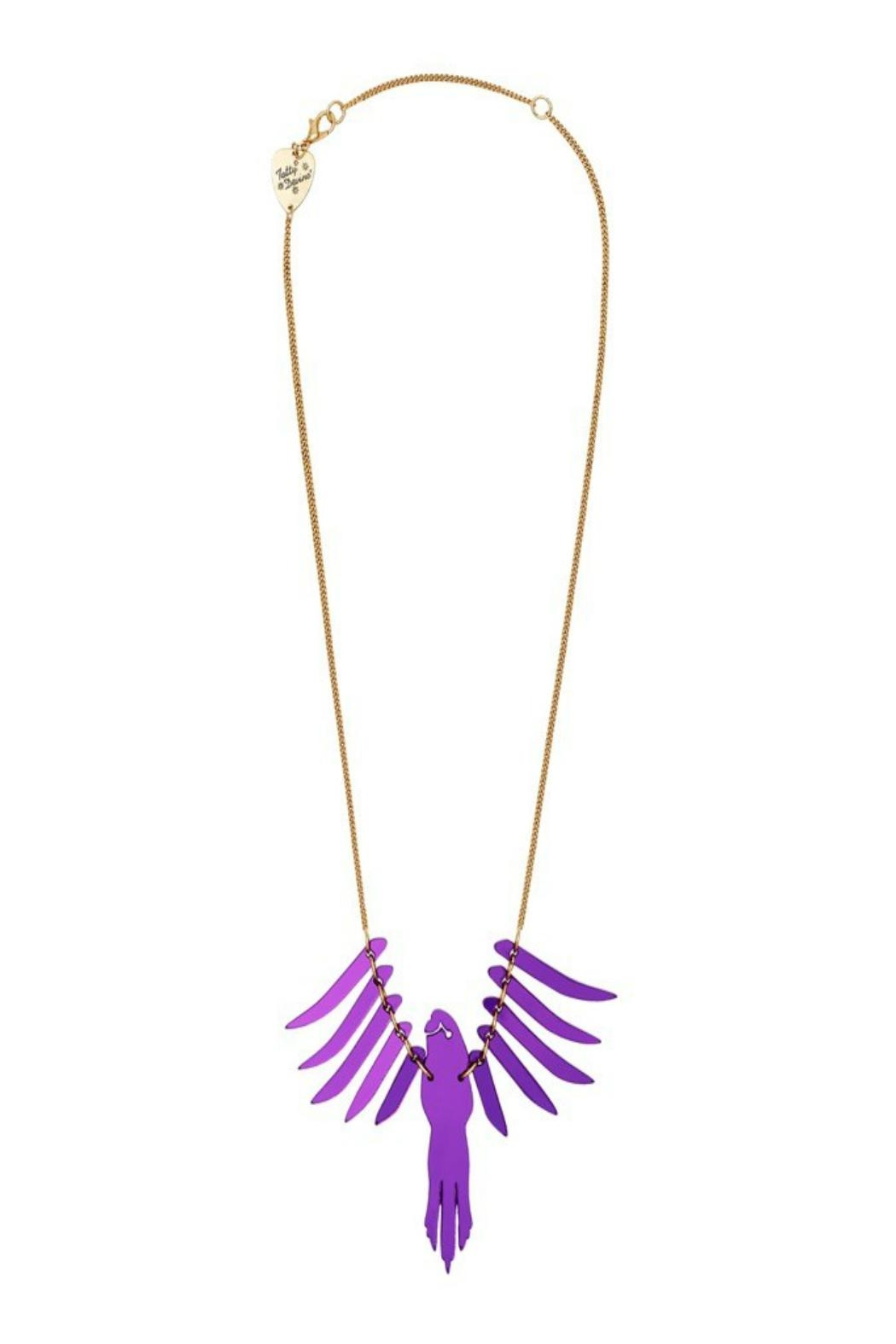 Tatty Devine Purple Parakeet Necklace - Main Image