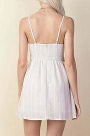 LLove USA Taupe Babydoll Dress - Front full body