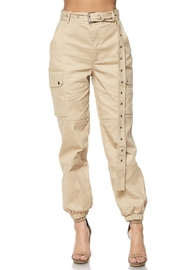 hot and delicious Taupe Belted Pant - Product Mini Image