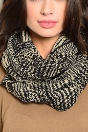 Lyn -Maree's Taupe & Black Neck Warmer Scarf - Front cropped