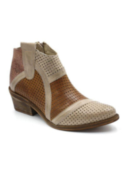 Casta Taupe, Brown, and Copper Short Boot - Front cropped