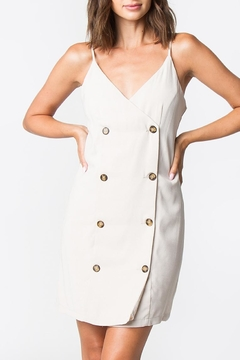 Sugarlips Taupe Button-Down Dress - Product List Image