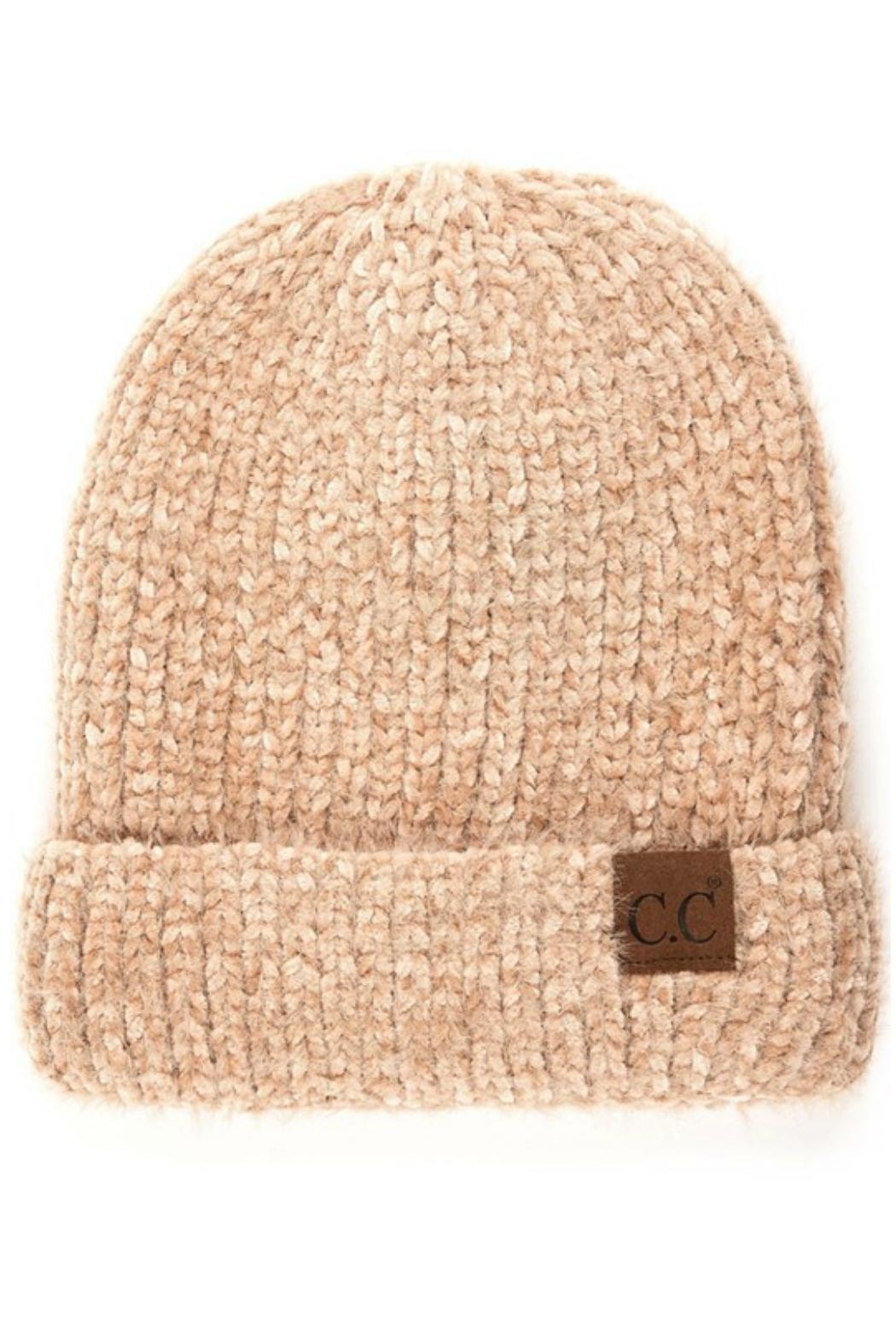 b677d91646b CC Beanie Taupe Chenille Beanie from California by Apricot Lane ...