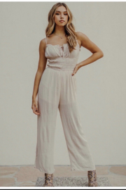 Cotton Candy  Taupe Jump Suit - Product Mini Image
