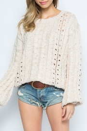 skylar madison Taupe Crewneck Sweater - Product Mini Image