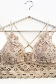 Anemone Taupe Crochet-Lace Bralette - Product Mini Image