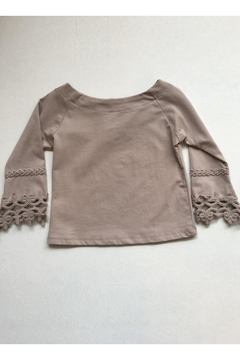 Maeli Rose Taupe Crochet Top - Product List Image
