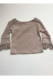 Maeli Rose Taupe Crochet Top - Front cropped