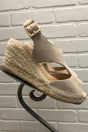 Kanna Taupe Espadrille Wedge - Front full body