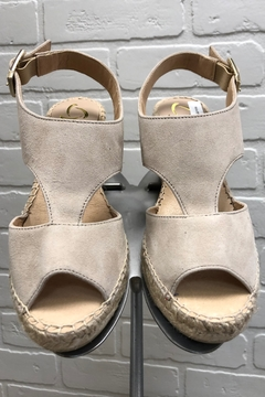 Shoptiques Product: Taupe Espadrille Wedge