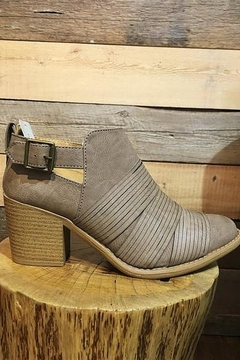 Qupid Taupe Faux Leather Strap Front Bootie - Alternate List Image