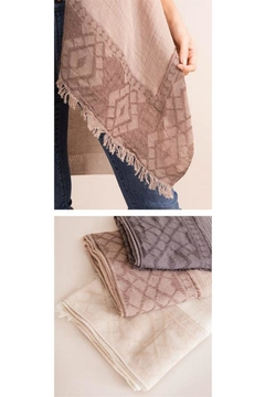 Shoptiques Product: Taupe Frayed Scarf