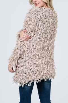 Sweet Generis Taupe Furry Cardigan - Alternate List Image