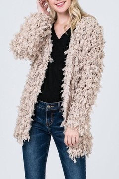 Sweet Generis Taupe Furry Cardigan - Product List Image
