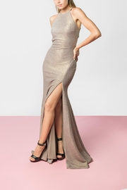 Jovani Taupe Gold Gown - Product Mini Image