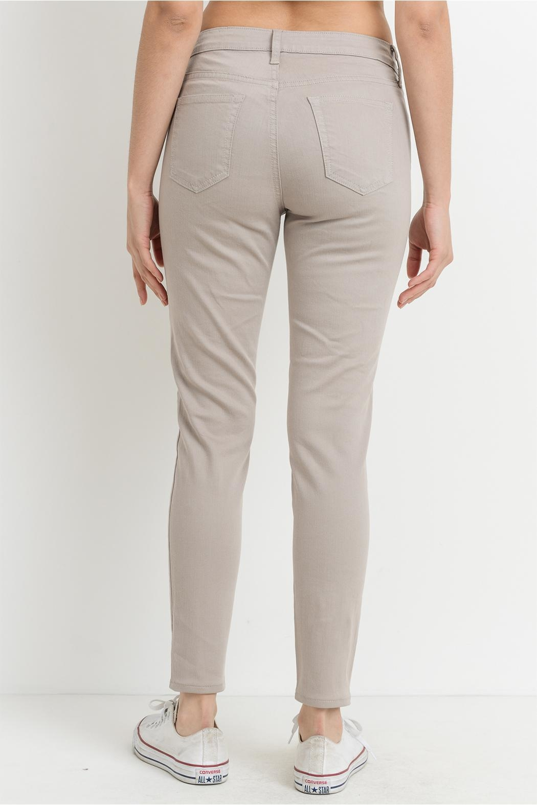just black Taupe Gray Jeans - Side Cropped Image