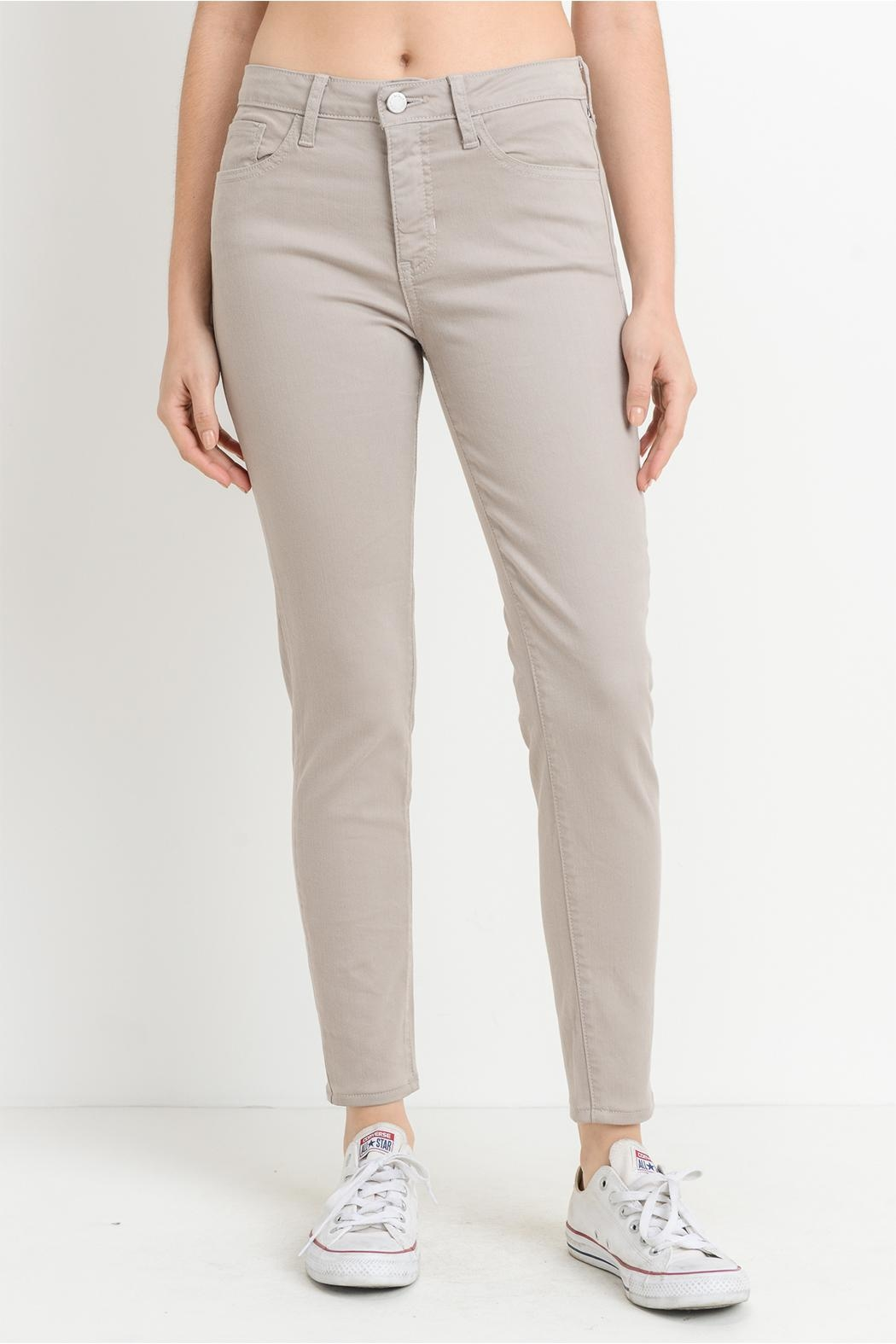 just black Taupe Gray Jeans - Main Image
