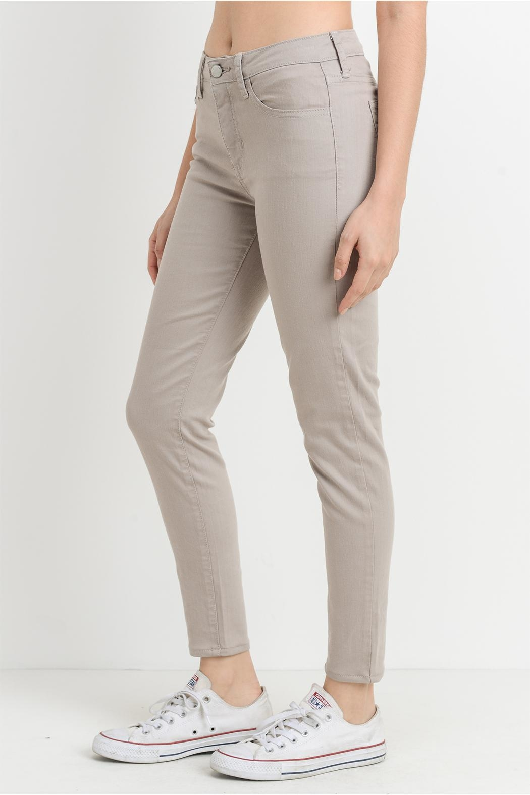 just black Taupe Gray Jeans - Front Full Image