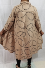 Gracia Taupe High Low - Front full body