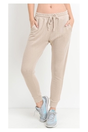 Polly & Esther Taupe Joggers - Product Mini Image