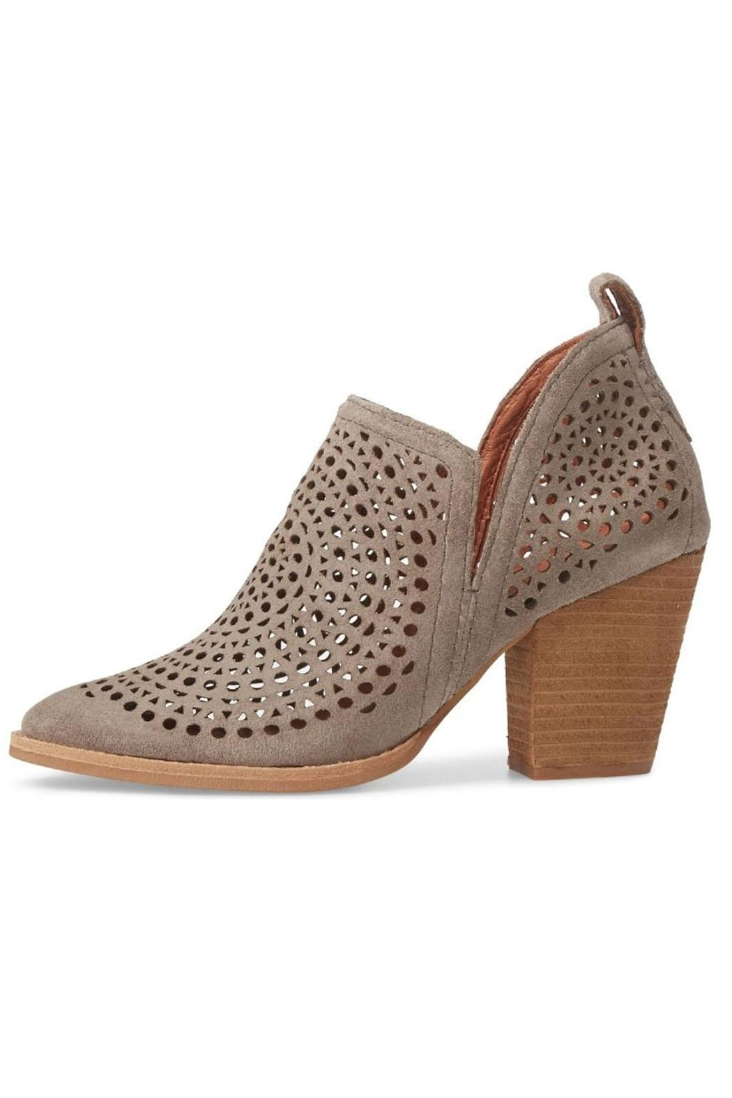 6c2b77fc763 Jeffrey Campbell Taupe Perforated Booties from South Carolina by ...