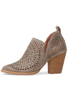 Jeffrey Campbell Taupe Perforated Booties - Product List Image