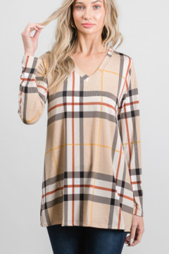 Heimish Taupe Plaid Happiness Top - Product List Image